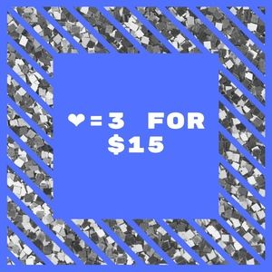 ❤= 3 for $15 - Adding Items Daily